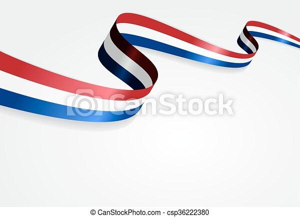 Trasfondo de bandera holandesa. Ilustración de vectores. - csp36222380