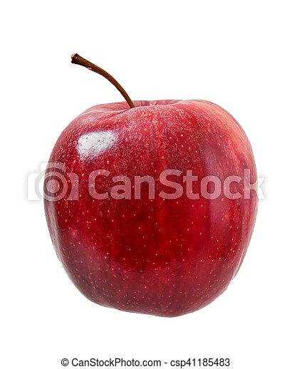 fondo., bianco, mela, maturo, isolato - csp41185483