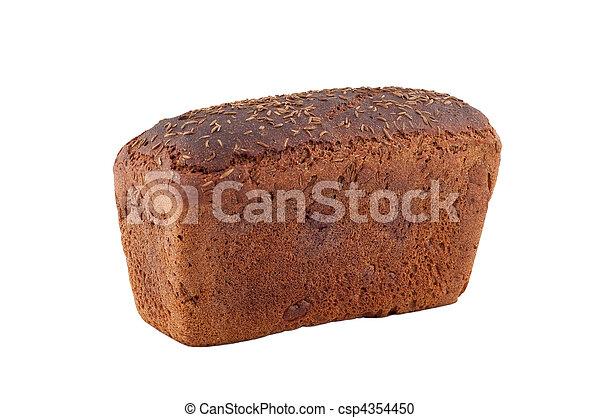 Pan aislado de fondo blanco. - csp4354450