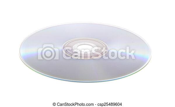 DVD, CD aislado en fondo blanco - csp25489604