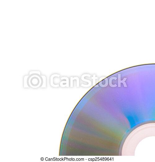 DVD, CD aislado en fondo blanco - csp25489641