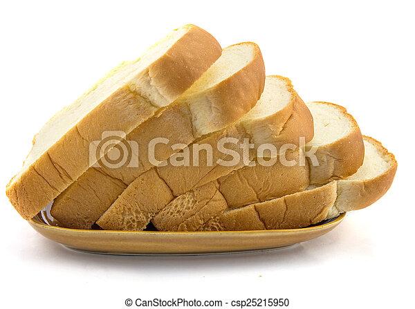 Pan en fondo blanco - csp25215950