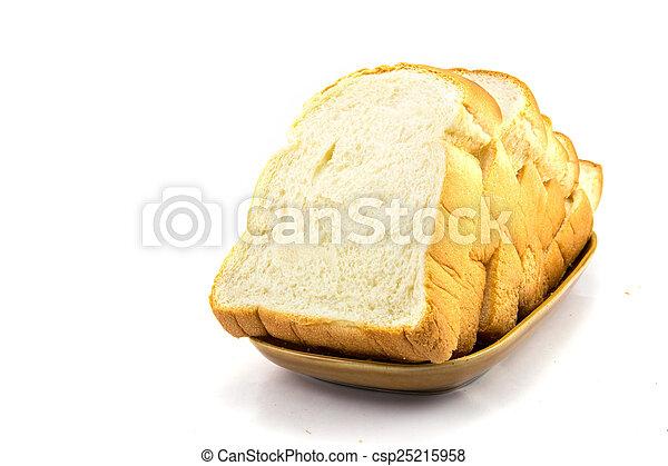 Pan en fondo blanco - csp25215958