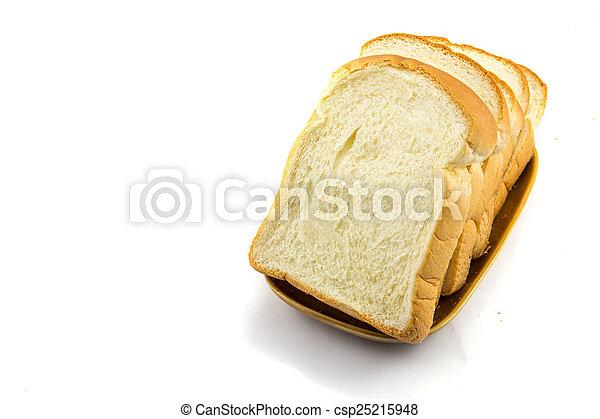 Pan en fondo blanco - csp25215948