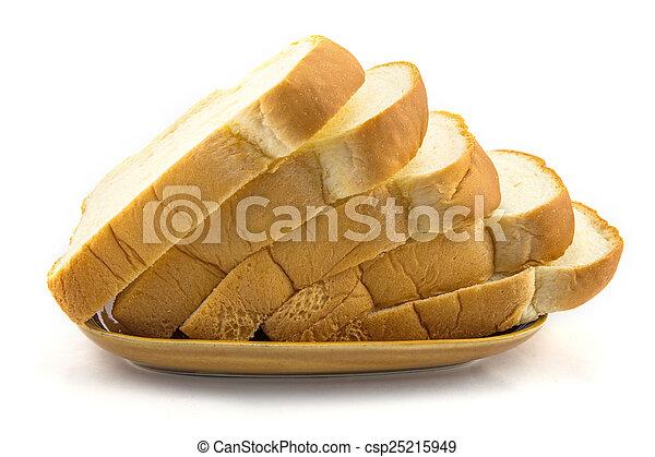 Pan en fondo blanco - csp25215949