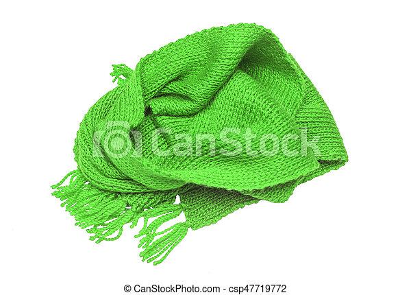 diseño de calidad 9e4d3 e11a9 fondo., blanco, bufanda verde