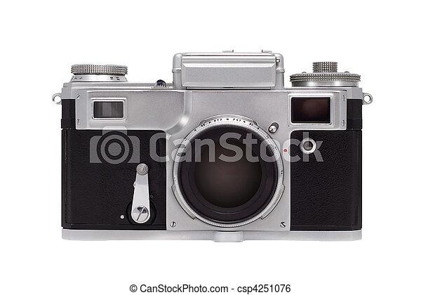La cámara está aislada de fondo blanco. - csp4251076