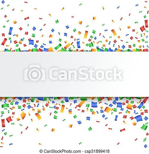 Antecedentes coloridos de celebración. Confeti. - csp31899418
