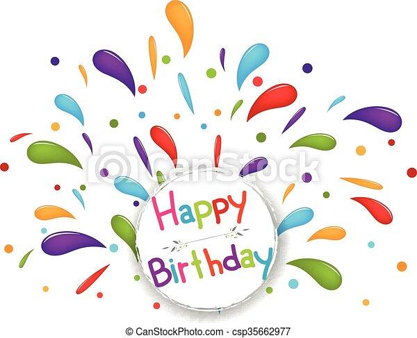 fondo., celebrazione compleanno - csp35662977