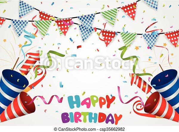 fondo., celebrazione compleanno - csp35662982