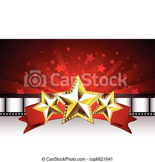 Antecedentes con estrellas doradas - csp6621641