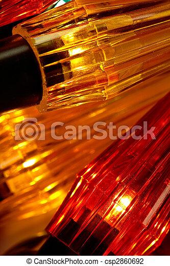 fondo dorado, luces - csp2860692