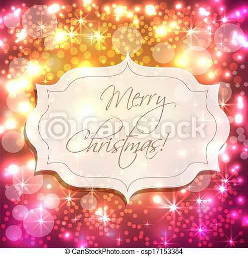 fondo, festivo, luci - csp17153384