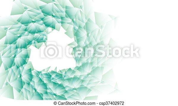 Flor verde en un fondo blanco. - csp37402972