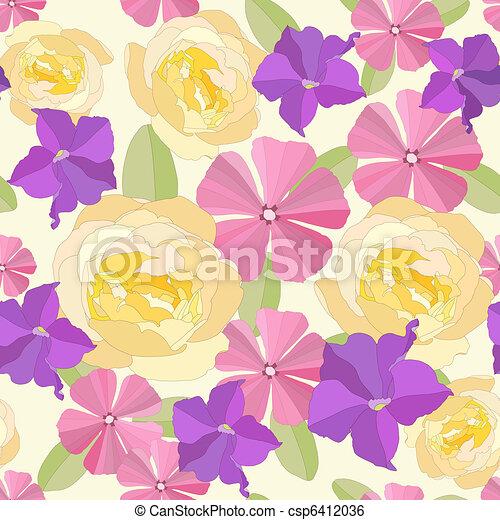 Flores de jardín sin mar. - csp6412036