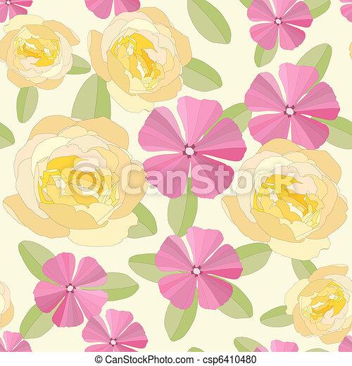 Flores de jardín sin mar. - csp6410480