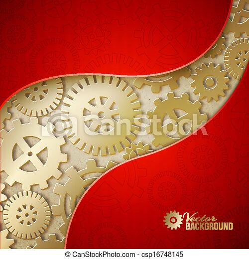 fondo., ingranaggi, meccanico - csp16748145