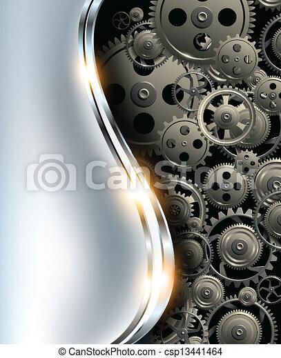 fondo, metallico, astratto - csp13441464