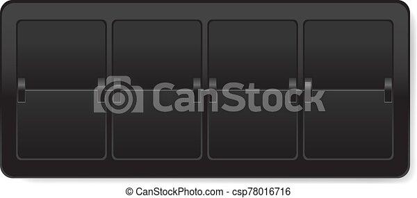 fondo negro, mostrador, blanco, aislado - csp78016716