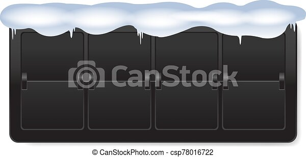 fondo negro, mostrador, blanco, aislado - csp78016722