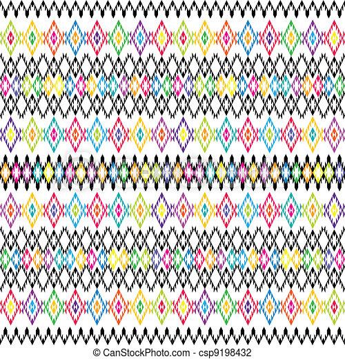 fondo, ornamenti, etnico - csp9198432