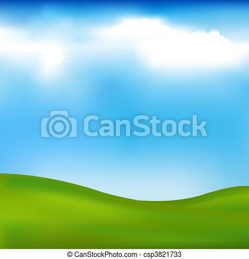 fondo, paesaggio - csp3821733
