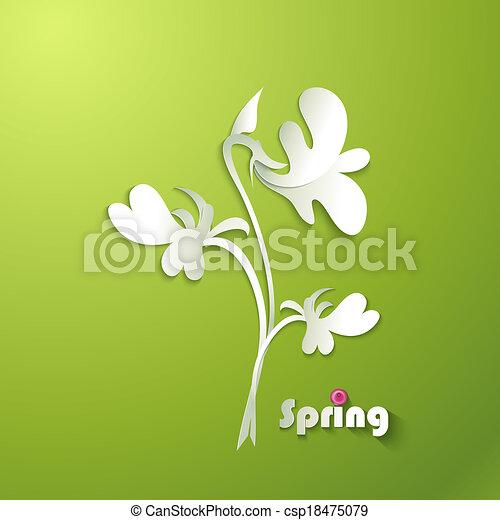 Antecedentes de primavera. - csp18475079
