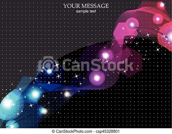 Antecedentes abstractos y coloridos. Vector. - csp45328801
