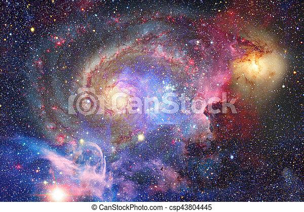 Galaxia y nebulosa. Trasfondo espacial abstracto. - csp43804445