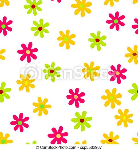 fondo, seamless, floreale - csp5582987