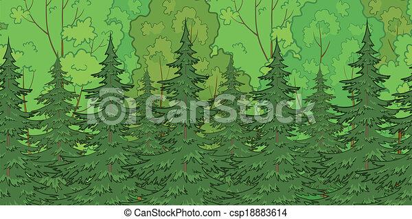 fondo, seamless, foresta - csp18883614