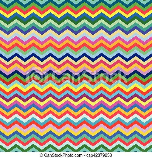 fondo, seamless, zigzag, colorato - csp42379253