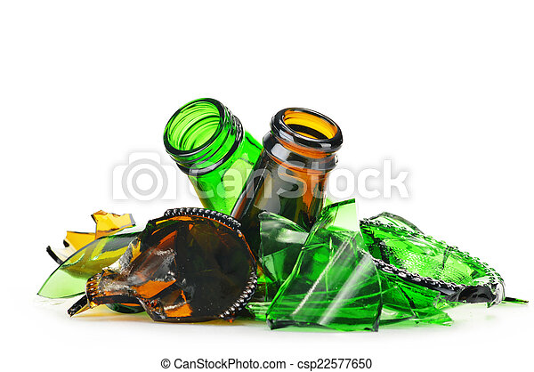 fondo., sopra, riciclaggio, pezzi, vetro, rotto, bianco - csp22577650