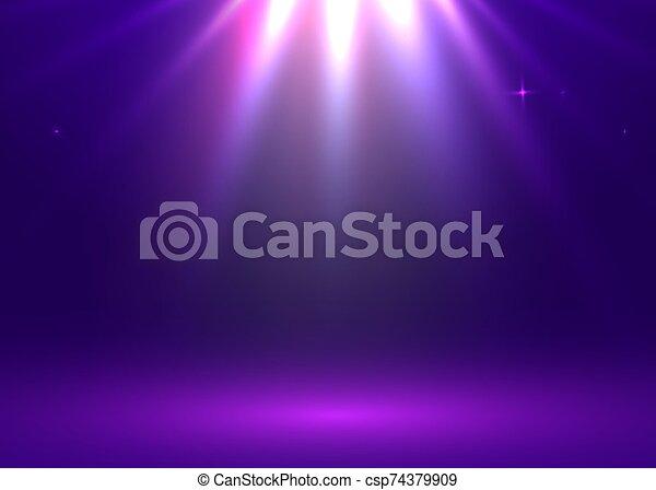 fondo., space., bandiera, tavolo luminoso, mostra, room., show., vettore, illustrazione, copia, prodotto, web, studio - csp74379909