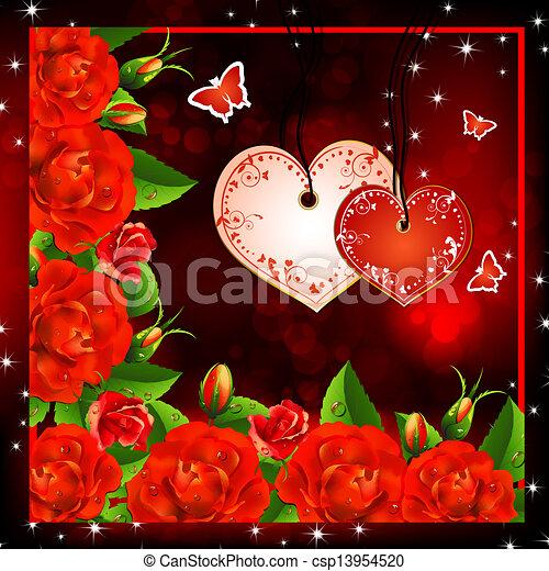 Fondo Valentine Rosas Rojas