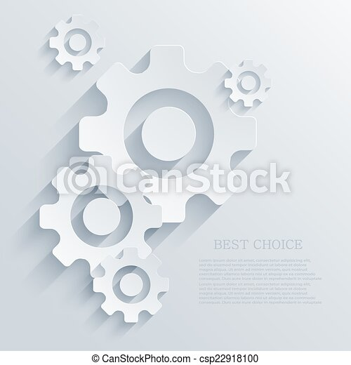 Mecanismo creativo Vector fondo de icono. - csp22918100