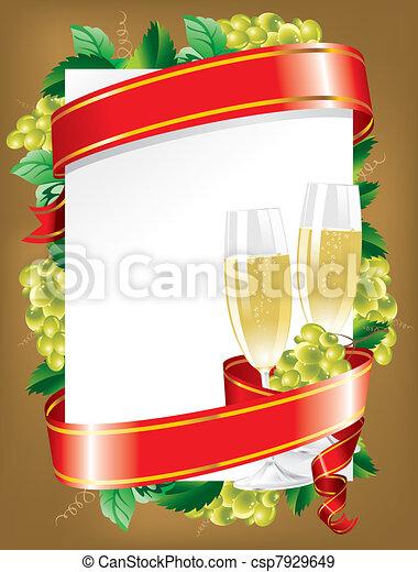 fondo, (vector), festivo - csp7929649