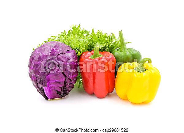 Verduras aisladas en el fondo blanco. - csp29681522