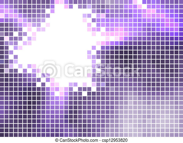 fondo, viola, mosaico - csp12953820