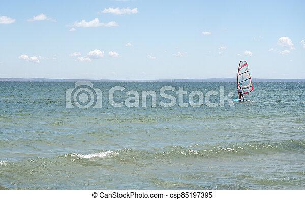 fondo., windsurfers., kiteboarders, mar, picado - csp85197395