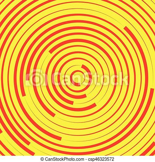 fondos, elements., pattern., resumen, anillos, círculos, concéntrico, suitable, o - csp46323572