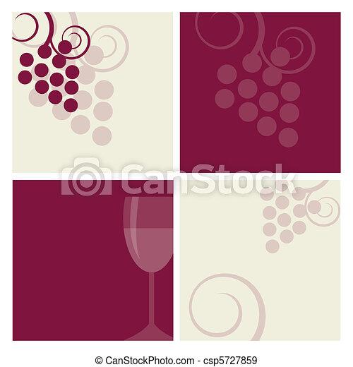 Antecedentes de vino - csp5727859
