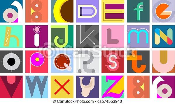 Font Design - csp74553940