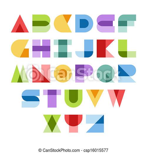 font, farverig - csp16015577