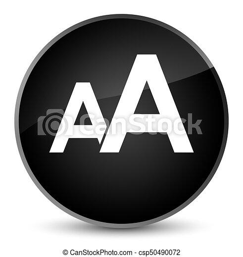 Font size icon elegant black round button - csp50490072