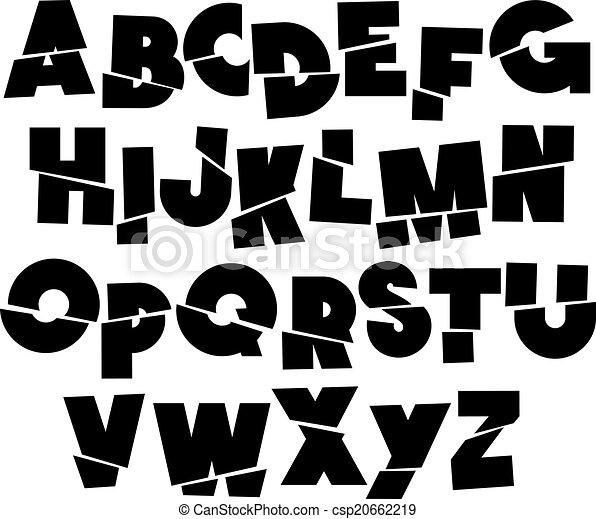 fonte, turno, vetorial, type., alfabeto - csp20662219
