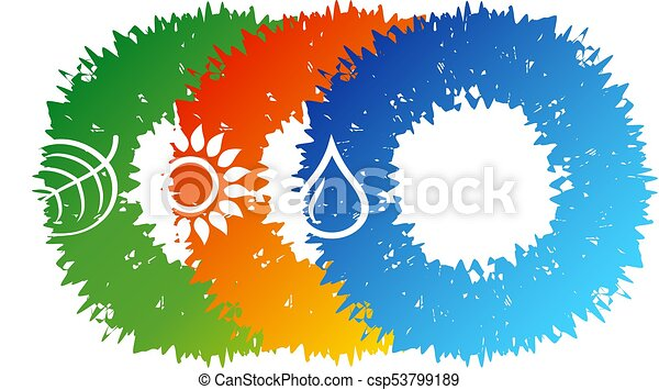 fontes, alternativa, vetorial, energia - csp53799189