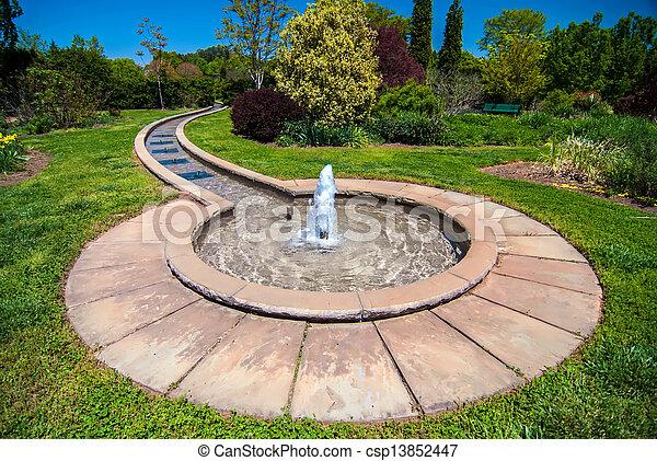 fontijn, botanische tuin - csp13852447