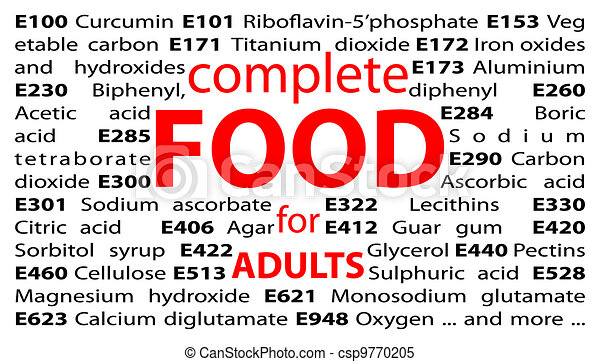 Food additives - e-numbers - csp9770205