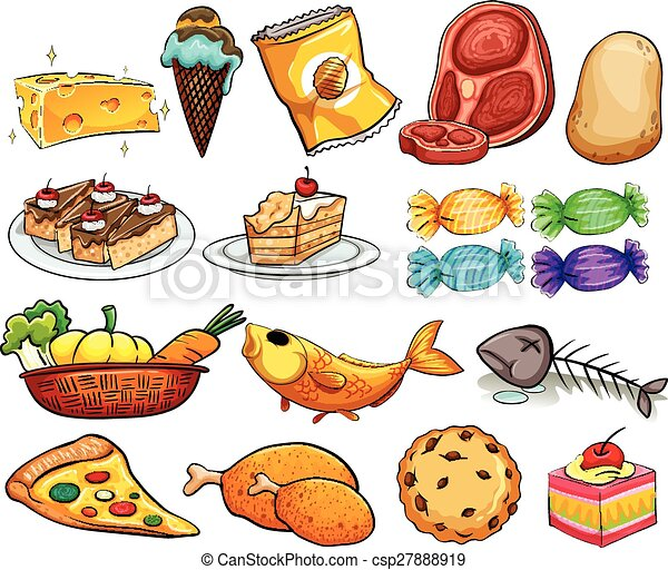 Clip Art Child Eating Five Food Groups